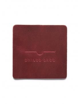 Leather mug coaster - bordo