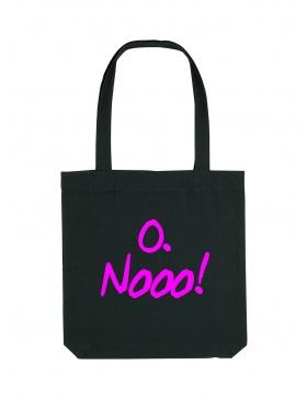 O. Nooo! Black Tote Bag