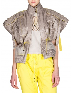 Quilted short vest