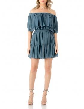 Mini silk dress
