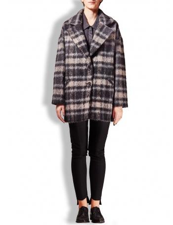 Grey and black checkered LT coat