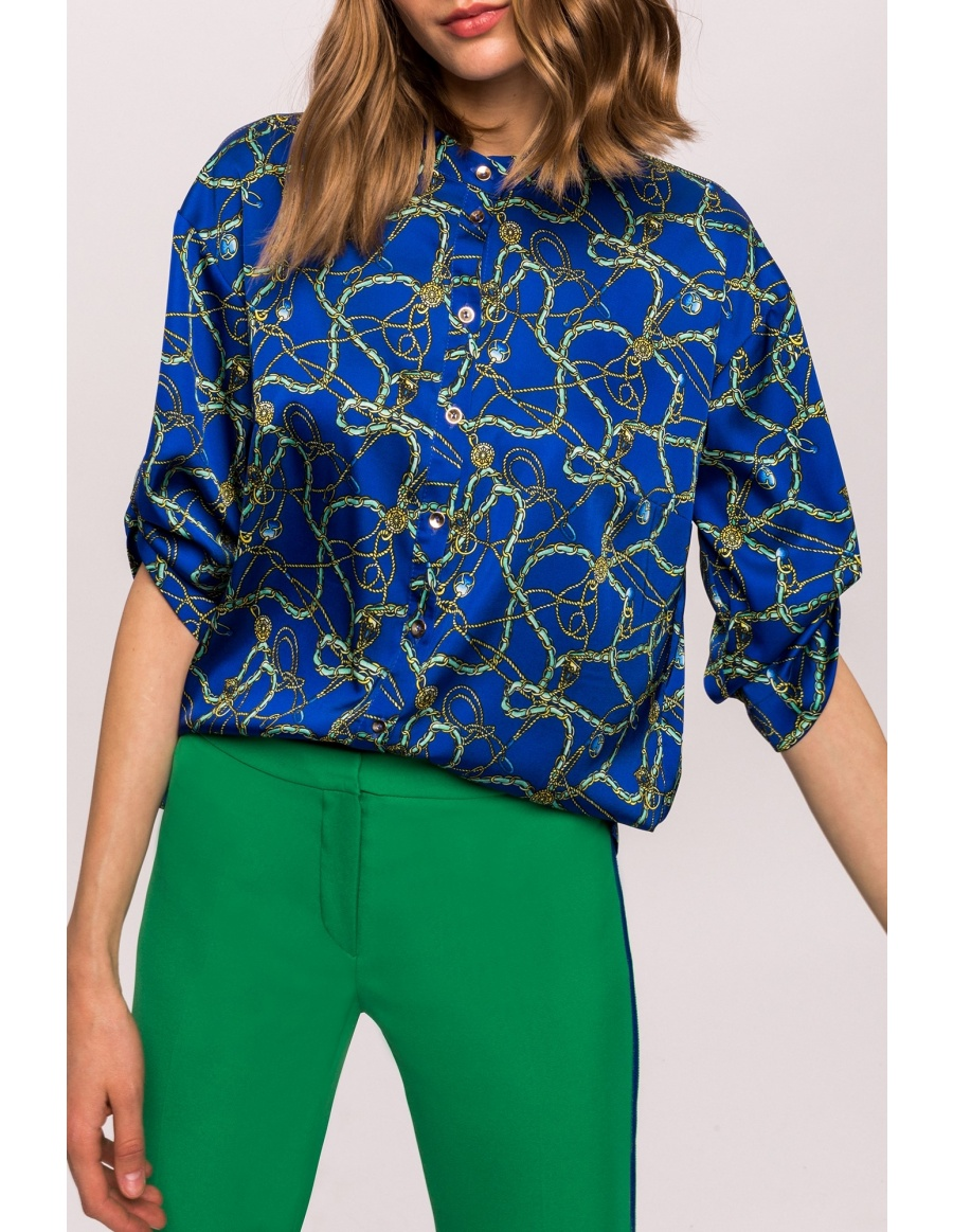 Satin printed shirt | Nissa