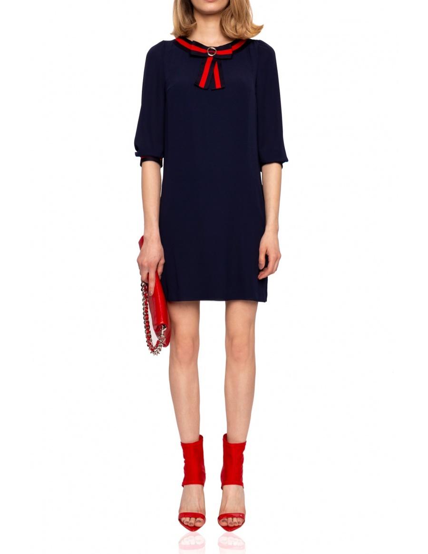 Mini dress with ribbon detail | Nissa