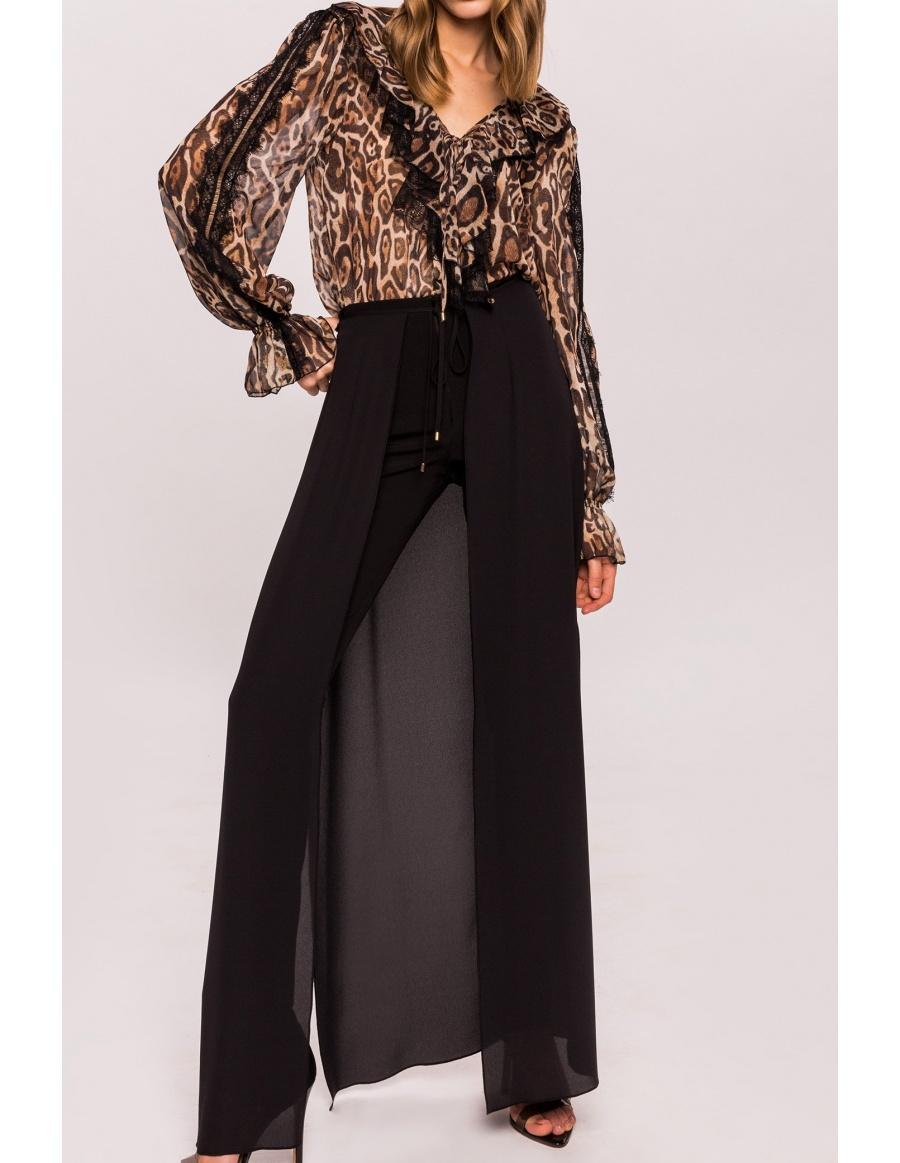 Trousers with veil train | Nissa