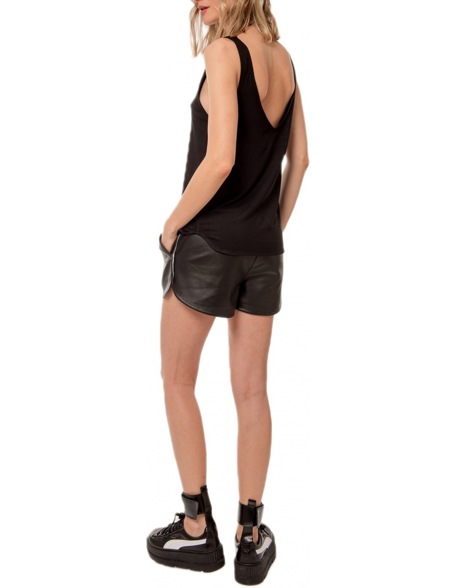 CARLA LEATHER SHORTS | CORINA VLADESCU