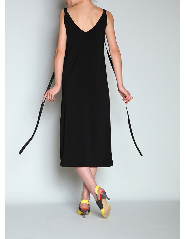 V neck dress with adjustable straps   Silvia Serban