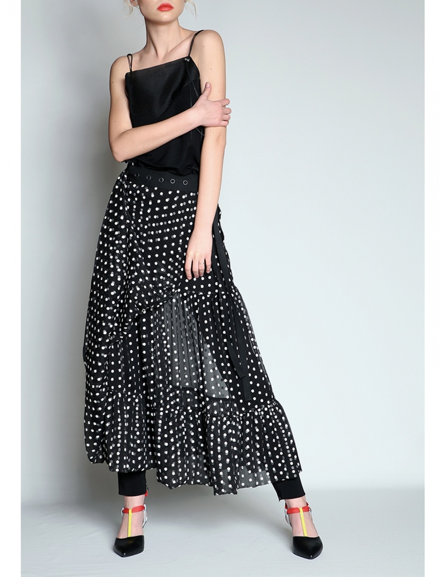 Black & white dots skirt | Silvia Serban