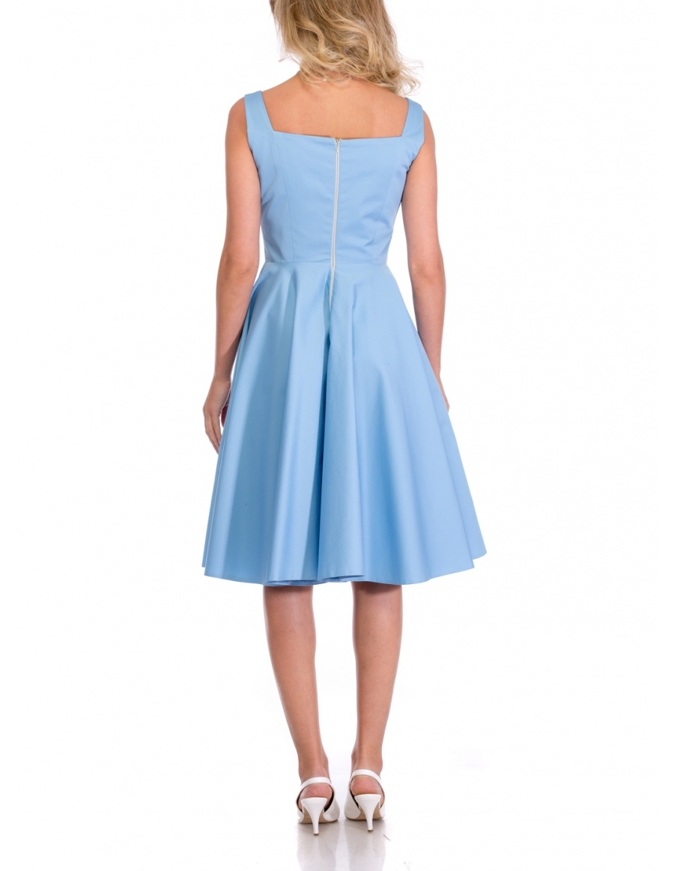 RETRO BLUE DRESS | Cloche