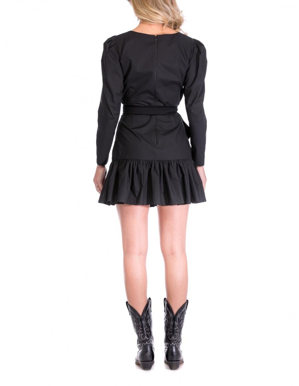 BLACK POPLIN DRESS | Cloche