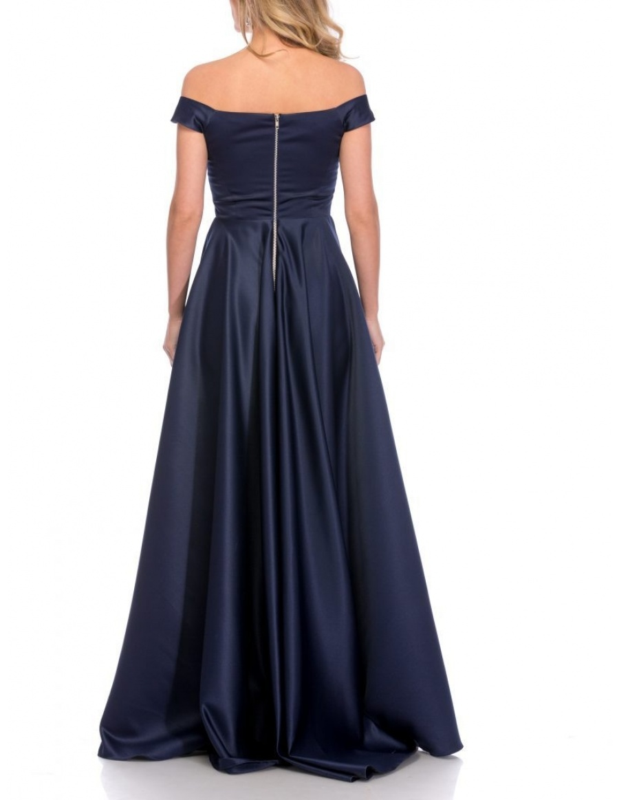 NAVY RETRO MAXI DRESS | Cloche