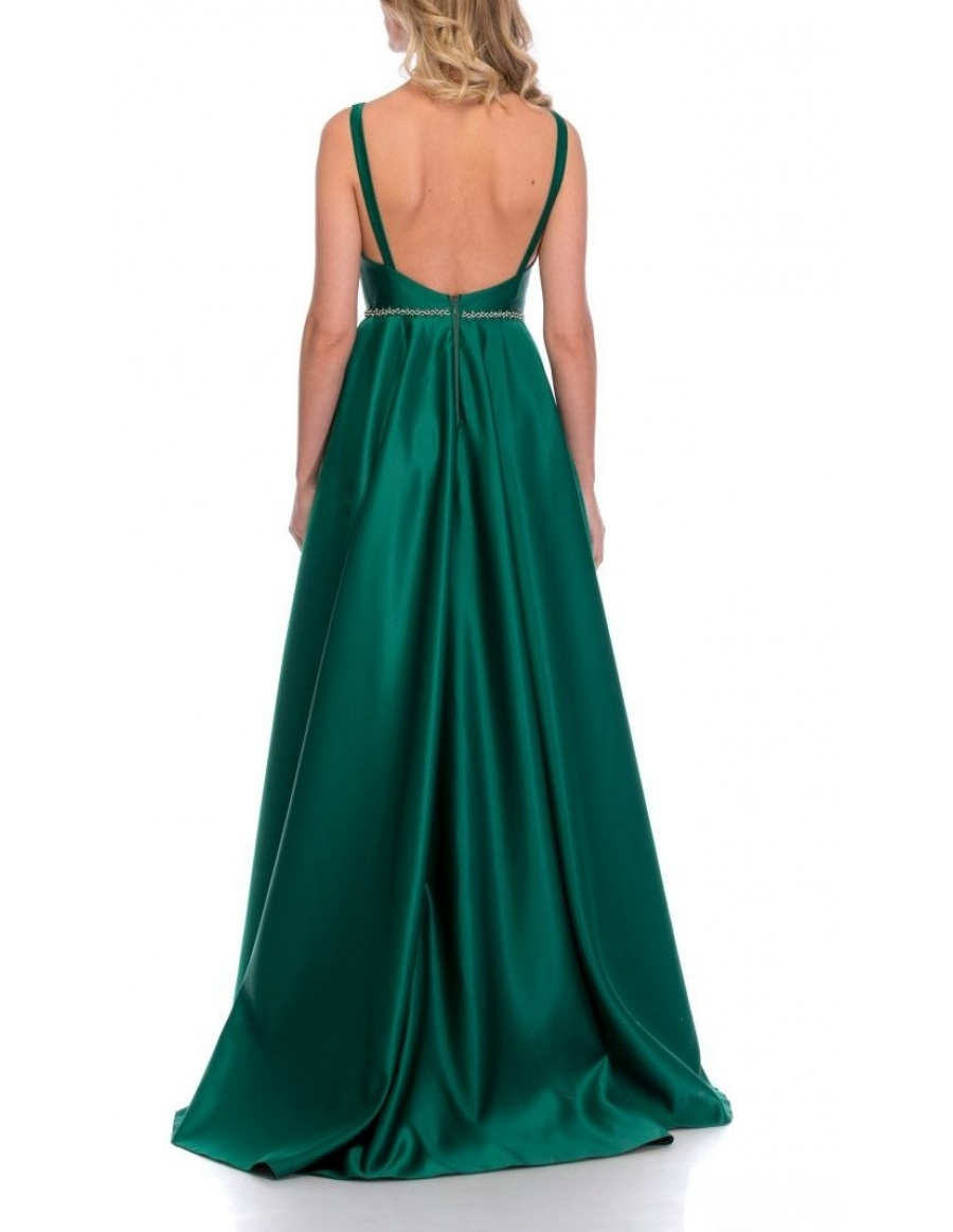 BARE BACK TAFFETA DRESS | Cloche