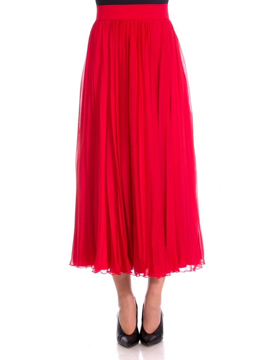 MIDI SILK VEIL SKIRT | Cloche
