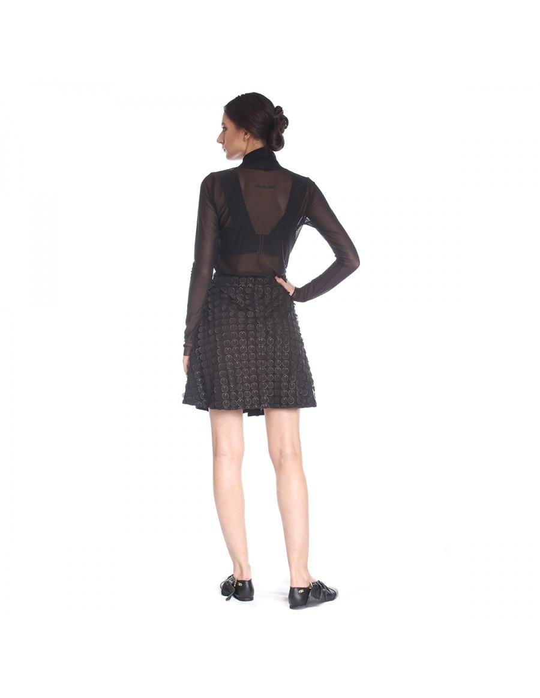 Halter neck blouse in elastic tulle | Silvia Serban | Molecule F
