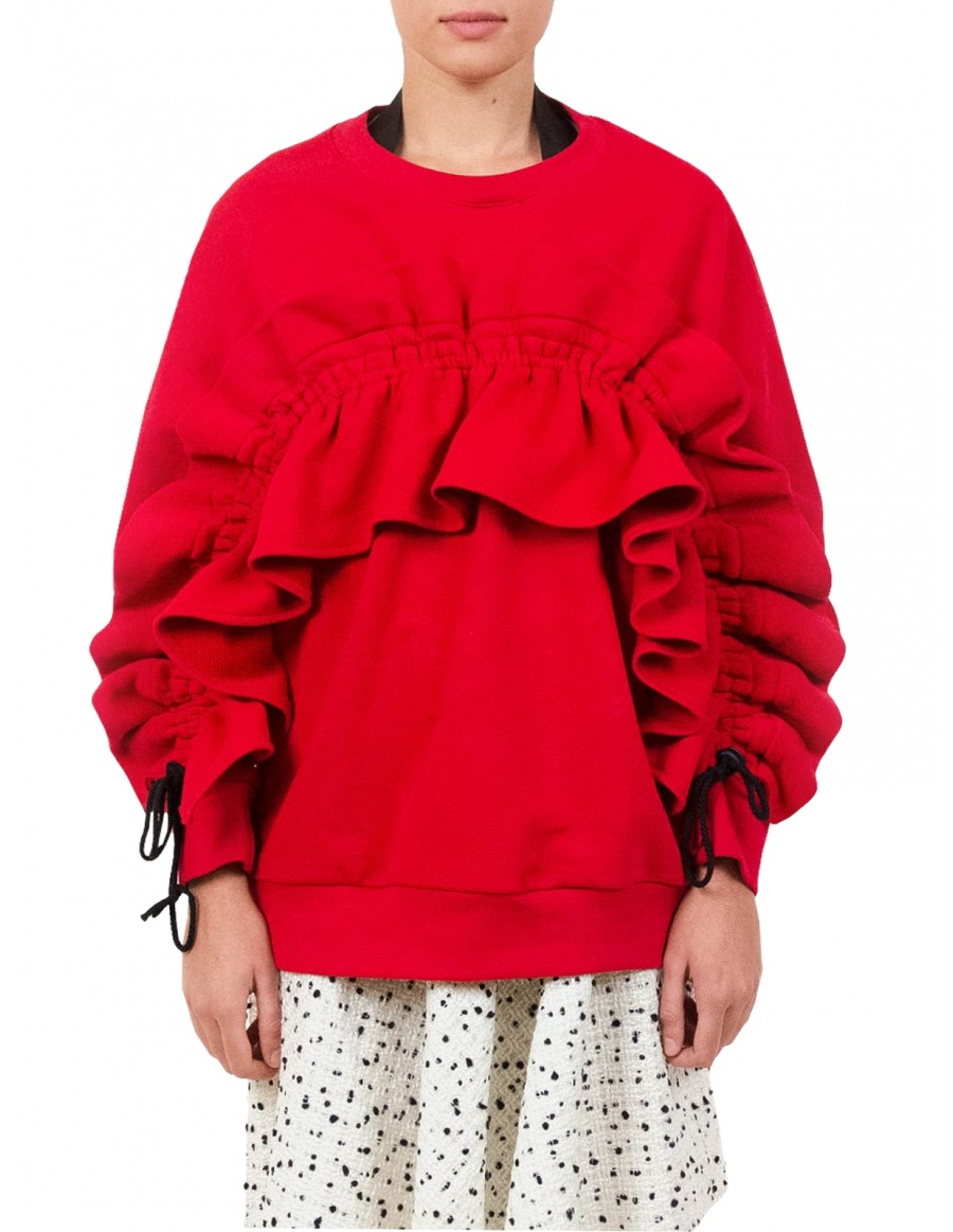Minor Red Sweatshirt | Ioana Ciolacu | Molecule F