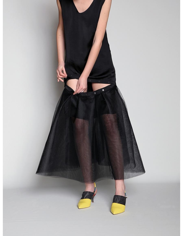 Modular black dress | Silvia Serban