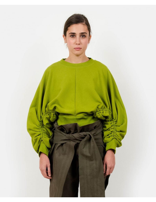 Subs Green Sweatshirt | Ioana Ciolacu | Molecule F