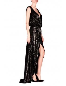 Rochie Super Sequins Black