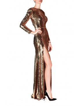 Rochie Gold Long Dress