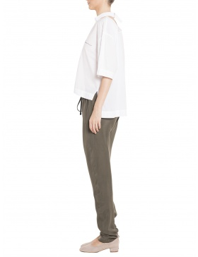 Tricou alb din batist