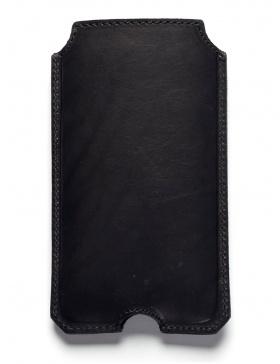 Husă din piele pentru iPhone 6 - negru