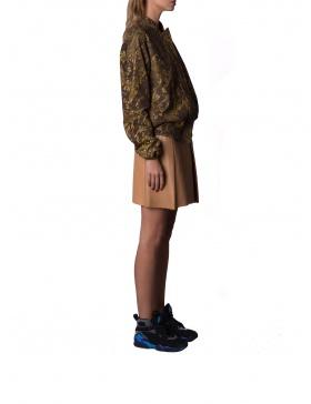 Jacheta din piele cu print digital