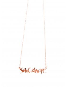 Colier Save&Hope placat cu aur roz by Skindeep x Moogu