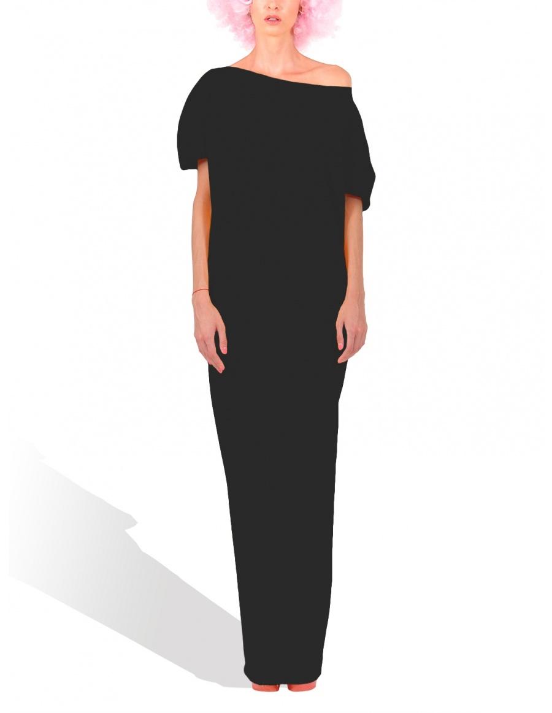 Rochie maxi conica Neagra