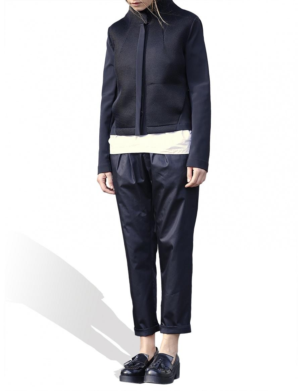 Jacheta din material mix