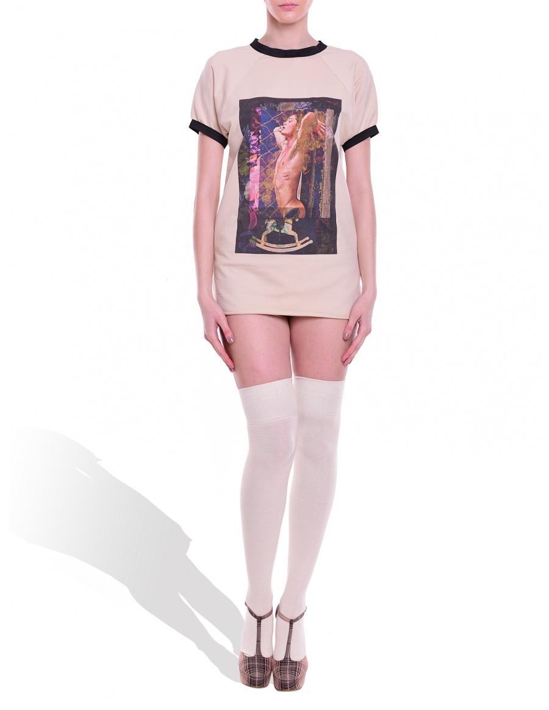 Elastic T-shirt orlando in vanilla