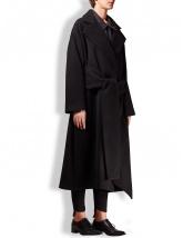 Palton lung negru oversized