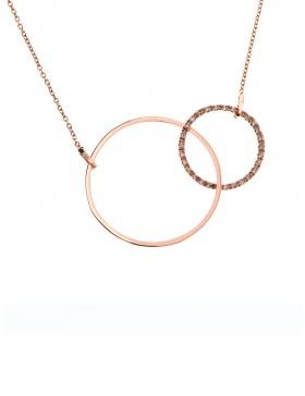 Colier Circle Shape Bling