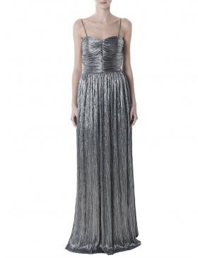 Rochie argintie cu bretele subtiri