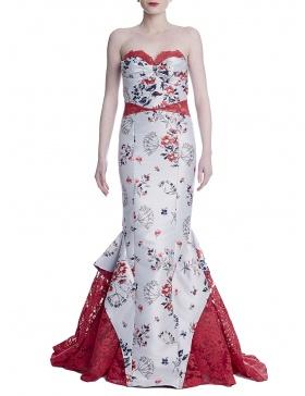 Rochie sirena cu imprimeu floral