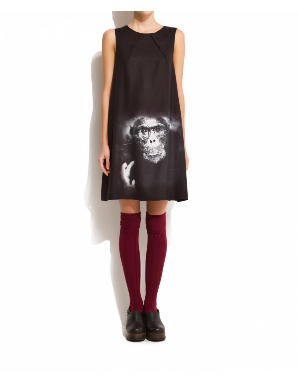 M12 Monkey print dress